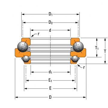 DTVL angular contact thrust ball bearing. N-3488-A