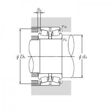 Double Row Tapered Roller Bearings NTN CRI-2554