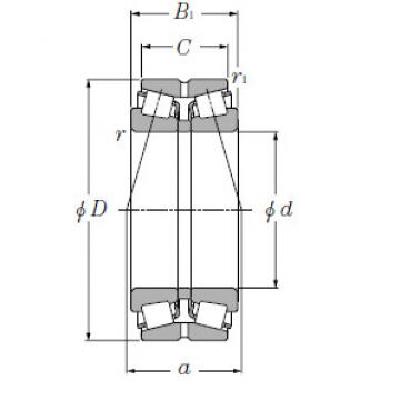 Double Row Tapered Roller Bearings NTN LM446349/LM446310D+A